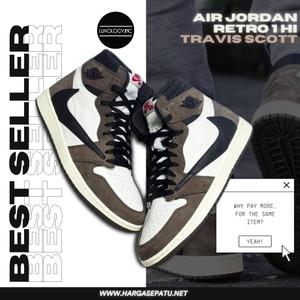 (BEST SELLER) Air Jordan Retro 1 Hi x Travis Scott