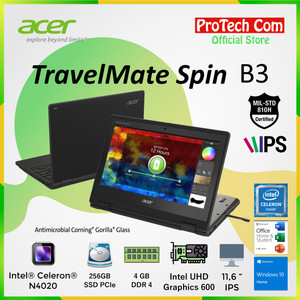 "ACER SPIN 1 SP111-33 DUALCORE N4000 500GB 4GB 11,6"" TOUCHSCREEN WIN 10"