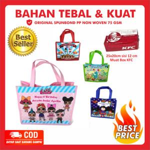 Tas Ultah Pakai Nama dan Foto / Goodie Bag Ulang Tahun Custom