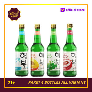 TERMURAH! Paket 4 Botol Happy Soju All Variant
