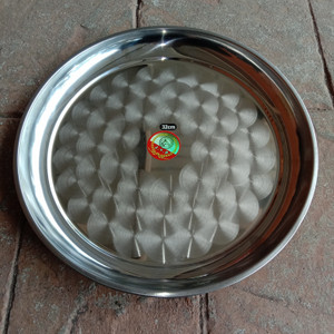 tampah stainless nampan bundar diameter 45 cm