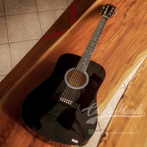 Squier SA-150 Dreadnought Acoustic Guitar Black