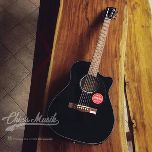 Fender CC 60 SCE Concert Acoustic Guitar, Walnut FB Black