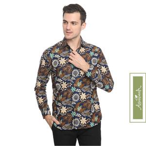 Agrapana Slimfit Baju Kemeja Batik Pria Slim Fit Lengan Panjang Bhanu
