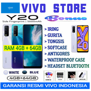 VIVO Y20 RAM 4/64 GB GARANSI RESMI VIVO INDONESIA