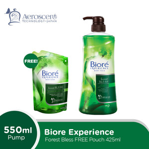 Biore Body Foam Forest Bless Pump 550mL FREE Gift
