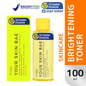 AVOSKIN TONER ESSENCE VIT C 2% + NIACINAMIDE 2% + RASPBERRY 100 ML