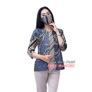 Atasan Batik Wanita Blouse Kekinian By Batik Dua Putri Collection