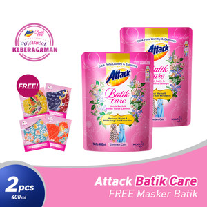 Attack Batik Care 400mL Twinpack FREE Gift
