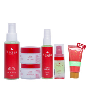 Kezia Skincare Acne Package Series Penghilang Jerawat