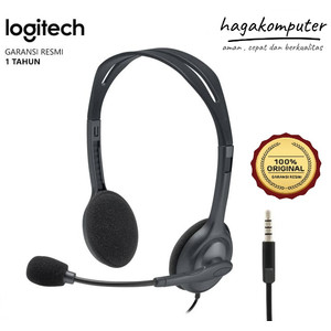 Logitech H111 Stereo Headset With Mic Headphone Earphone