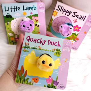 Little Me Fun Finger Puppet Board Books (Duck / Elephant / Caterpillar