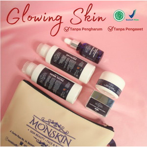 Paket : MONSKIN - Glowing for Dry / Very Dry Skin