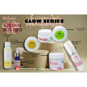 Paket Glowing series/paket cerah dan glowing/enkla series isi 5 produk