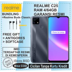 REALME C25 RAM 4/64GB   48MP AI TRIPLE CAMERA   GARANSI RESMI 1 TAHUN