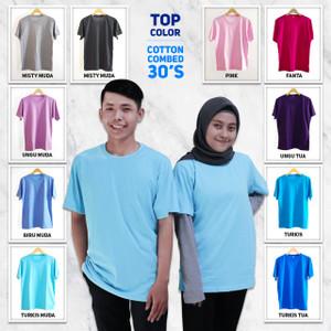Kaos Polos cotton combed 30s / Kaos polos murah / Kaos polos premium 2