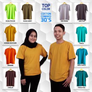 Kaos Polos cotton combed 30s / Kaos polos murah / Kaos polos premium 3