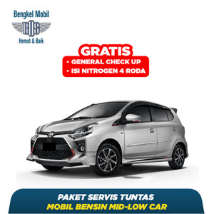 Paket Service Tuntas Mobil Bensin Mid-Low Car - Di Bengkel BOS