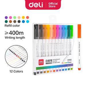 Deli 12 Color whiteboard marker graffiti drawing easy to erase S506