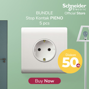 (Disc. 50rb) Bundle Schneider Electric PIENO Stop Kontak Schuko Putih
