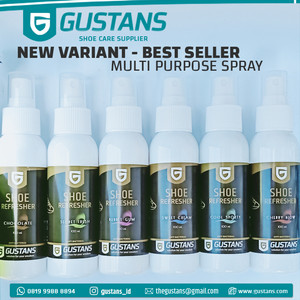 SHOE REFRESHER / Parfum Sepatu Tas Gustans + Anti Bacterial Deodorant