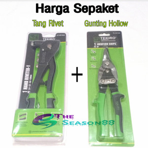 Tang Rivet TEKIRO dan Gunting Baja Ringan 10 inch TEKIRO