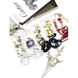 C123 Iphone 12 12 PRO MAX Dried Flower Custom Sling Case Lanyard Tali