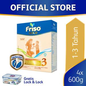 Friso Gold 3 Susu Formula Pertumbuhan Batita [4 pcs] Free Gift