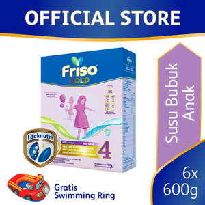 Friso Gold 4 Susu Formula Pertumbuhan Batita 600g [6 pcs] Free Gift