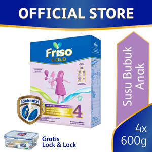 Friso Gold 4 Susu Formula Pertumbuhan Batita [4 pcs] Free Gift
