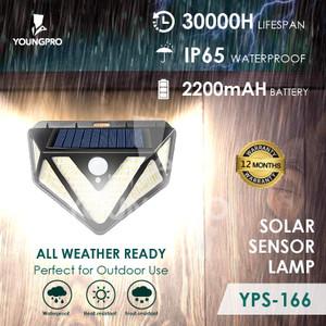 YOUNGPRO YPS-166 Lampu Outdoor Taman Panel Solar Sensor Gerak 166 Led