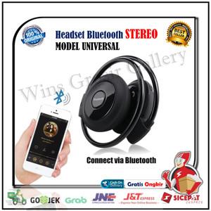 Headset Bluetooth Jogging Sport Music Wireless FM MP3 Nirkabel