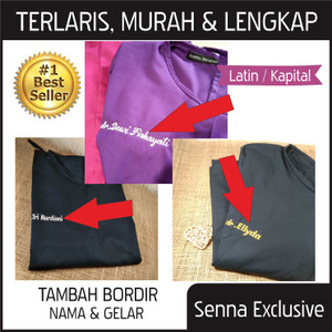 Gown DRILL APD OK Surgical Apron Bedah Jubah Operasi + BORDIR NAMA
