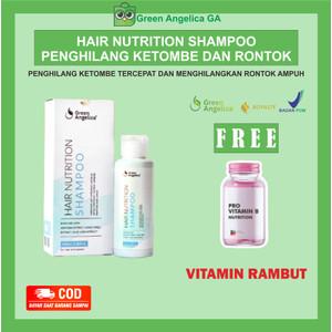 Shampoo Penumbuh Rambut Botak Super Cepat Green Angelica BPOM - 100 ml