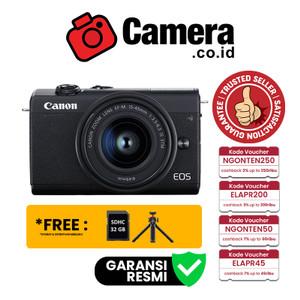 Canon EOS M200 Kit EF-M15-45mm f/3.5-6.3 IS STM - Kamera Mirrorless