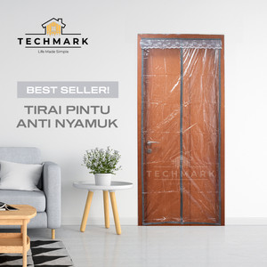 Tirai Pintu Kamar AC Anti Nyamuk Lalat Magnet Premium