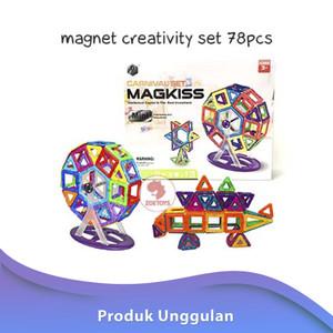 Zoetoys Magnet Creativity Set 78pcs | mainan edukasi | mainan anak