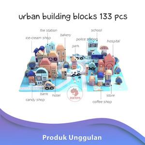 Zoetoys Urban Building Blocks 133 pcs | mainan edukasi | mainan anak