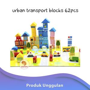 Urban Transport Blocks 62pcs