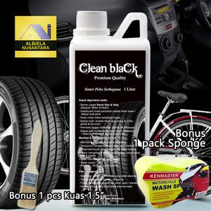 Semir poles serbaguna - semir ban - black trim restorer 1 liter