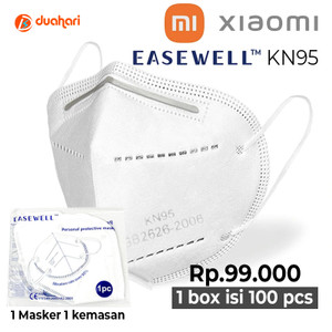 Masker Xiaomi Easewell FFP2 KN95 1 Box isi 100pcs