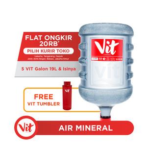 VIT Air Mineral 19L (5 Galon) FREE VIT Tumbler