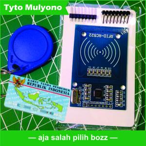 RFID Reader RC522 SUPPORT EKTP 13.56 MHz Arduino NodeMCU