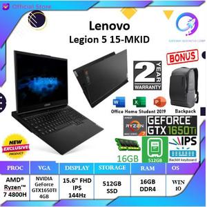 Lenovo Legion 5 MKID-Ryzen 7 4800 16GB 512SSD GTX1650Ti4GB 15.6FHD OHS