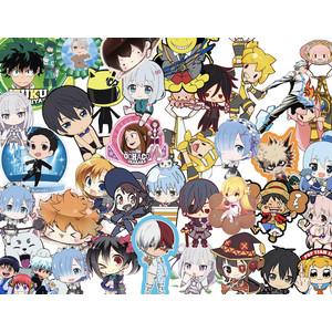 sticker anime japan bentuk murah full colour acak/random
