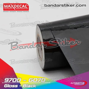 [METERAN] MAXDECAL 9700 070 Black Lebar 152cm Hitam Gloss Matt Doff