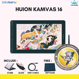 Huion Kamvas 16 (2021) l Drawing Display Tablet Huion Kamvas16