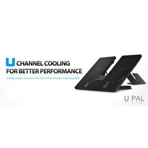 Deepcool U-Pal U-Shaped 2Fan Cooling Pad Notebook with USB 3.0 Port