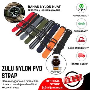 18 mm 20 mm 22 mm 24 mm Zulu Nylon Strap Tali Jam Tangan Nylon Zulu