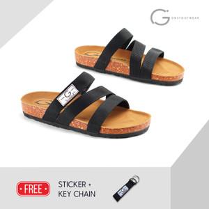 SENDAL CASUAL PRIA GOODNESS LOCK BLACK GOODNESS FOOTWEAR 100% ORIGINAL